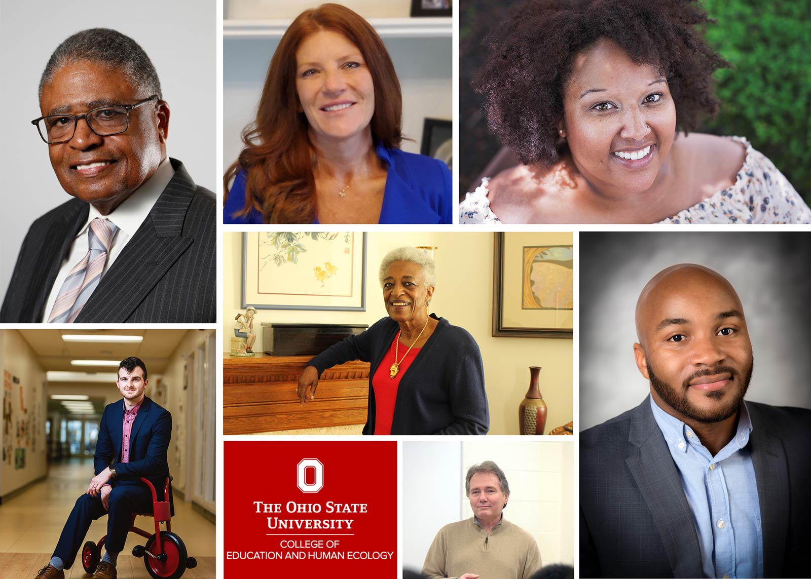 College of seven men and women selected for alumni awards and the college hall of fame